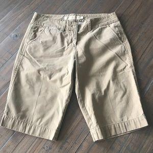 J. Crew size 4 tan City Fit Chino Bermuda shorts